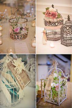 Jaulas para decorar tu boda. #wedding #birdcage