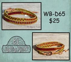 WB-D65 beaded double wrap bracelet - Wonderful seed bead mix by 83GypsyRoad on Etsy