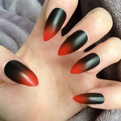 Doobys Ombre Hot Red & Black Ombre 24 Hand Painted by Doobys1989, £14.99