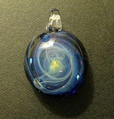 Lampworked Galaxy Silver Fume & Boro Glass Focal Bead Pendant by FireWarpedGlass on Etsy https://www.etsy.com/listing/95676764/lampworked-galaxy-silver-fume-boro-glass