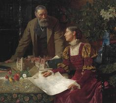 Le Prince Lointain: Frank Dicksee (1853-1928), The House Builders - 18...
