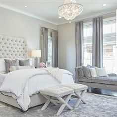 Dream bedroom, swipe to see the before pic of this gorgeous transformation by @awelldressedhomellc . #lovefordesigns#homedecor#homedesign#fixerupper#interiordecor#luxury#newhome#lighting#homeinspo#living#designideas#interiors#decor#homeinspo#instadesign#hogar#casa#interiorinspo#staging#realestate#bedroominspo#bedroomideas#customfurniture#transformation