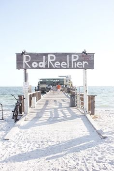 rod and reel pier in anna maria island, florida