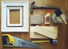 If you're looking for a fun way to recycle old picture frames, make shadow box frames which serve as great wall storage. Shadow Box Picture Frames, Diy Shadow Box, Old Picture Frames, Hardware Store Crafts, Hardware Stores, Shadow Box Kunst, Home Crafts, Diy And Crafts, Ways To Recycle