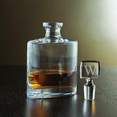 $79.95 Personalized Eclipse Whiskey Decanter (Stopper) - Wine Enthusiast