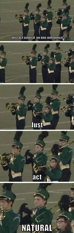 What's even more awkward?  Having to do the same thing as part of the band front :/