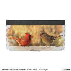 Cardinals in Autumn iPhone 6 Plus Wallet Case