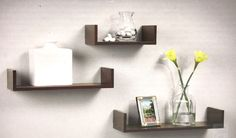 #keywebco Floating Wall She... found at  http://keywebco.myshopify.com/products/floating-wall-shelves-set-3pc-brown-wood-u-shape-interiors-by-design-new?utm_campaign=social_autopilot&utm_source=pin&utm_medium=pin