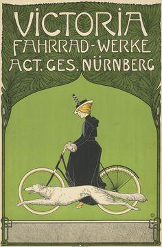 Fritz Rehm, Poster artwork for Victoria Bicycles, 1898. Nuremberg, Germany. Foto: Kunstbibliothek der Staatlichen Museen zu Berlin - Preußischer Kulturbesitz, Anna Russ