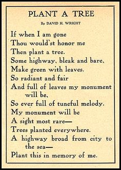 Remembrance Poems | Memorial Trees Planted on the Lincoln Highway