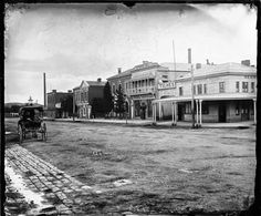 Barker St,Castlemaine in Victoria in the includes *Oriental Bank *D. Maldon Victoria, Melbourne Suburbs, Australian Continent, Largest Countries, Victoria Australia, Small Island, Ghost Towns, Tasmania, Vintage Photographs