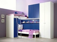 Sweet Girly Purple Delightful Bedroom For Teen's