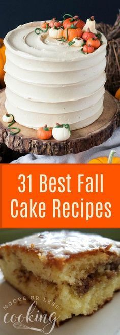 of the Best Fall Cake Recipes - Creative Fall Cakes Fall is just around the corner! Who is ready for some baking?Fall is just around the corner! Who is ready for some baking? Fall Cake Recipes, Fall Desserts, Pumpkin Recipes, Just Desserts, Dessert Simple, Vanilla Wafer Cake, Pumpkin Pound Cake, Apple Cake, Easy Mug Cake