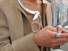 Concert, designers, fall 2013, jacket, leather, men's  fashion, metallic necklace, neutral, ring, statement  jewelry, sunglasses