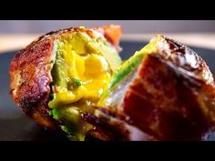 Bacon Wrapped Egg & Avocado Surprise, 3 Layers of Flavor! Brunch Recipes, Keto Recipes, Breakfast Recipes, Snack Recipes, Cooking Recipes, Healthy Recipes, Paleo Breakfast, Cheesy Bacon Bombs, Healthy Fats