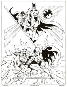José Luis García-López: DC Comics style guide for Batman & Robin (1982).