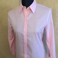 Ralph Lauren blouse  Beautiful and springy Ralph Lauren pink blouse!!! So casual chic or crisp classy!! Win win either waysee our Posh in a box and buy 2- save and get your items in a beautiful keepsake picture box Ralph Lauren Tops Blouses