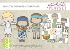 Alma the Younger Conversion Printable Playset - totally free and tons of fun!
