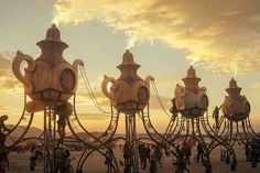 The Lost Tea Party art car from #burningman