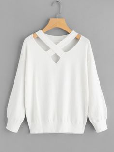 To find out about the Criss Cross Front Sweater at SHEIN, part of our latest Sweaters ready to shop online today! Teenage Girl Outfits, Girls Fashion Clothes, Teen Fashion Outfits, Look Fashion, Girl Fashion, Fashion Dresses, Cute Casual Outfits, Pretty Outfits, Stylish Outfits