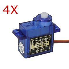 4X TowerPro SG90 Mini Micro Digital Servo 9g For RC Models https://www.fpvbunker.com/product/4x-towerpro-sg90-mini-micro-digital-servo-9g-for-rc-models/    #drones
