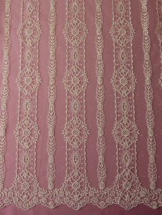 Ivory Sequinned Lace - Amber