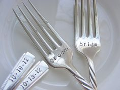 Bride/Groom dinner forks