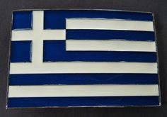 Greece Greek Hellenic Athens Cross Flag Big Belt Buckle Boucle de Ceintures #greek #Greece #grec #greeceflag #greekflag #beltbuckle