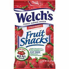 Welch's® Fruit Snacks, Strawberry,  STRAWBERRY SHORTCAKE PARTY