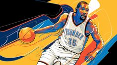 Illustrations created for ESPN featuring players of the NBA 2016 finalist teams.
