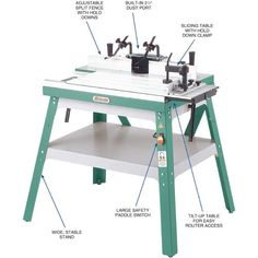 Craftsman router router table combo benchtop portable wood grizzly router table accepts any brand of portable router from hp to 5 hp cast iron table can be tilted for convenient router installation greentooth Image collections