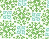 SALE Joy fabric by Kate Spain for Moda, Large Snowflakes in Snow- Fat Quarter. $2.50, via Etsy.
