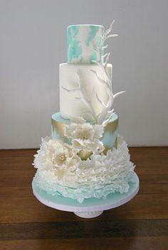 home made cake Ocean Cakes, Beach Cakes, Themed Wedding Cakes, Themed Cakes, Gorgeous Cakes, Pretty Cakes, Amazing Wedding Cakes, Amazing Cakes, Cupcakes