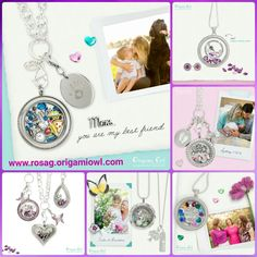Show mom how much you love her this Mothers' Day!  Create a Living Locket for her! www.rosag.origamiowl.com