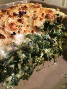 Mes super lasagnes aux épinards, même les enfants adorent ! Veggie Recipes, Healthy Recipes, Veggie Food, Quiche, Recipies, Food Porn, Good Food, Veggies, Vegetarian