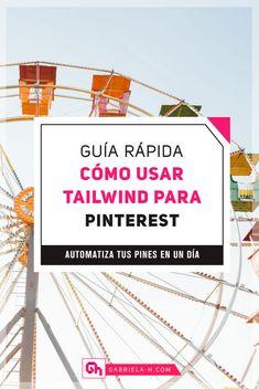 Cómo usar Tailwind para Pinterest: La Guía Rápida #pinterest #tailwind #redessociales #productividad Marketing Visual, Digital Marketing, Marketing Strategies, Post Pinterest, Comunity Manager, Pinterest Marketing, Branding, Management, Instagram
