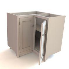 smart corner cabinet door design! - Kitchens Forum - GardenWeb. This shows the door configuration.