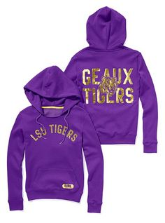 d00bd1e4 LSU Bling Pullover Hoodie - Victoria's Secret Pink® - Victoria's Secret  Pink Outfits, Cute