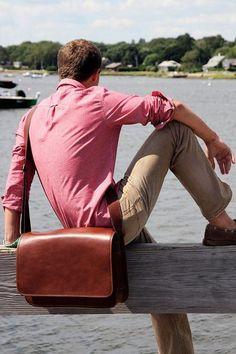 Frank Clegg - Messenger Bag.  High standards.  Clean design.