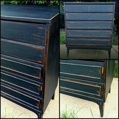 Black beauty vintage dresser