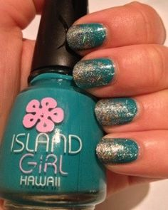 Glitter gradient: Aloha Paradise and Save Me #nails