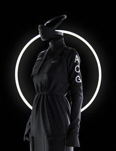 Clement Balavoine x Nike / NikeLab ACGTechnical Dress 2017 Moda Cyberpunk, Rpg Cyberpunk, Cyberpunk Character, Cyberpunk Fashion, Nike Acg, Future Fashion, Apparel Design, Concept Art, Fashion Photography