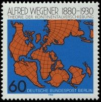Germany, 1980, Geology, Alfred Wegener: Theory of continental drift