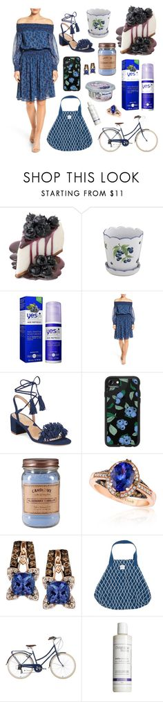 """""""National Blueberry Cheesecake Day"""" by carolynpence ❤ liked on Polyvore featuring interior, interiors, interior design, home, home decor, interior decorating, Fitz & Floyd, Yes To, MICHAEL Michael Kors and Adrienne Vittadini"""