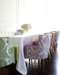 How gorgeous are these chairs?  I love them in all of the different colors!