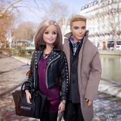 """Day date walking through the Canal District! #pfw #barbie #barbiestyle"""