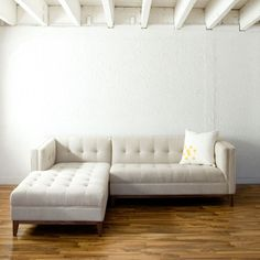 Gus* Modern Left-Facing Atwood Sectional Sofa. I like this! Would work in with so many different styles.
