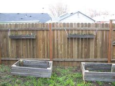 I love the idea of hanging planters on my fence. I need to verticle garden as much as possible and this will be cute as well as functional. I am thinking strawberries, sweet deliciousness!