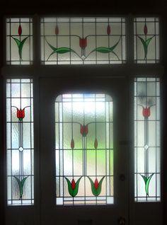 Delicate Tulip Leadlight Windows Stained Gl Door Flowers Designs