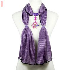 purple stripe colorful beads scarf retail display popular brand shawl NL-2020I #Welldone #Scarf